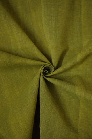 Yellowish Green Natural Dyed Textured Khadi Fabric