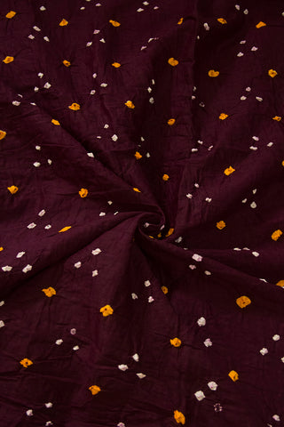 Dark Purple Bandhani Cambric Cotton Fabric