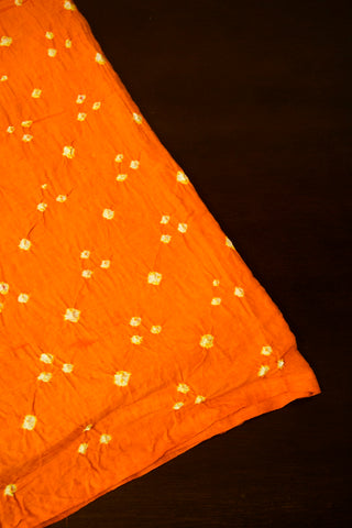 Mango Yellow Bandhini Cambric Cotton Fabric
