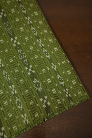 Moss Green Orissa Ikat Cotton Fabric-1.5 m