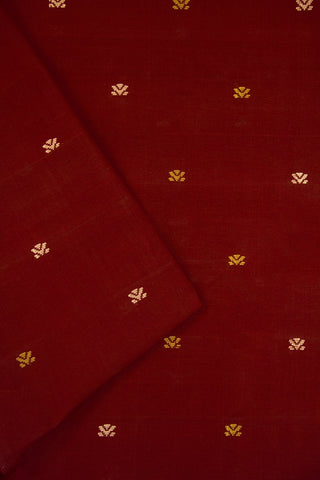 Maroon Handwoven Cotton Fabric