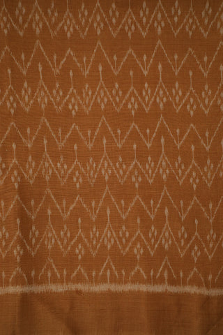 Biscuit Brown Orissa Ikat Cotton Fabric-1.6 m