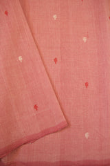 Light Pink Mango Butta Handwoven Cotton Fabric-0.5 m