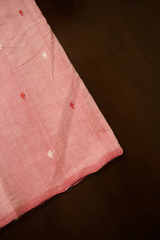 Light Pink Mango Butta Handwoven Cotton Fabric