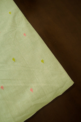 Mango Dobby Butta Handwoven Cotton Fabric