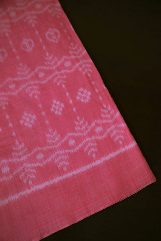 Pink Orissa Ikat Cotton Fabric-1.5 m