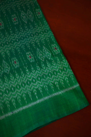 Green Orissa Ikat Cotton Fabric-1 m