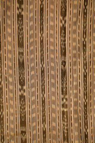 Double Shade Beige Orissa Ikat Cotton Fabric