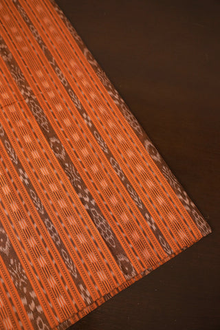 Orange Orissa Ikat Cotton Fabric
