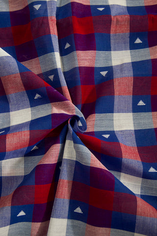 Multi Colour Checks Handwoven Cotton Fabric