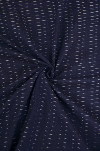 Dark Blue Ikat Cotton Fabric