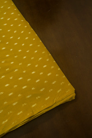 Mustard Yellow Ikat Cotton Fabric