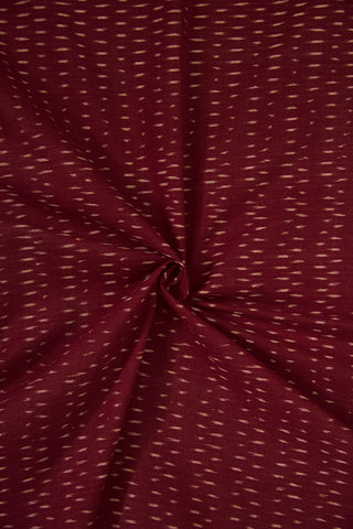 Deep Maroon Ikat Cotton Fabric