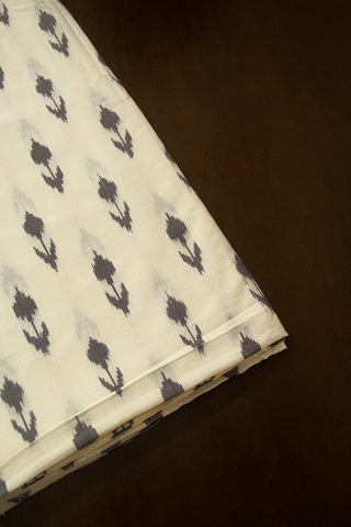 Arrows in Off White Ikat Fabric