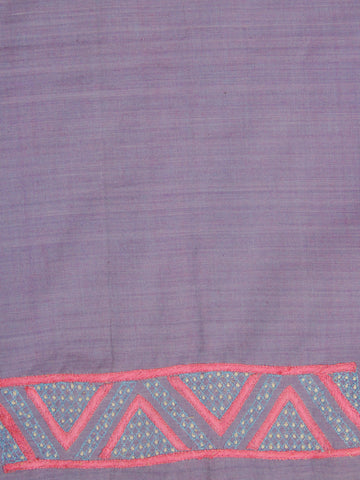 Handwoven Cotton Fabric with Hand Embroidered Sleeve Patterns