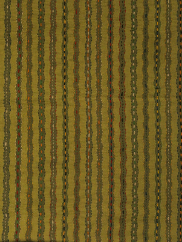Greenish yellow Weave Hand Embroidered Cotton Blouse Fabric
