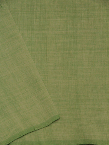 Light Green Yarn Dyed Handwoven Cotton Fabric