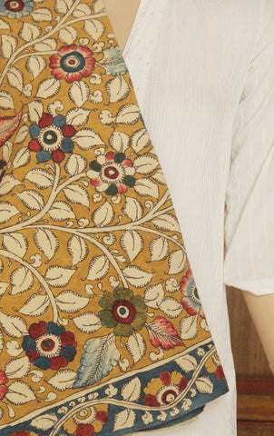 Painted Bordered Kalamkari Fabric