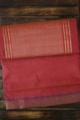 Double Shade Onion Pink Mangalagiri Cotton Saree