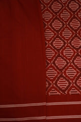 Shades of Red Pochampally Handwoven Ikat Cotton Saree