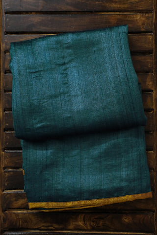 Handcrafted Patch Work Tussar Silk Saree