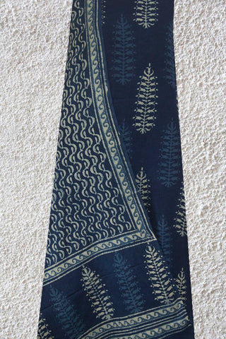 Intricate Leaf Bagru Block Printed Full Suit
