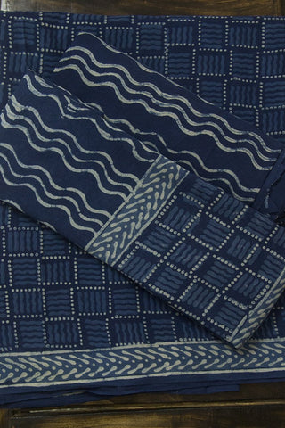 Squares and Waves Bagru Block Printed Full Suit