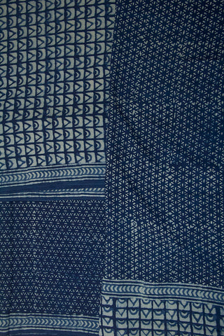 Indigo Bagru Block Printed Full Suit
