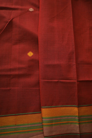 Maroon Urmul Inspired Kanchi cotton saree