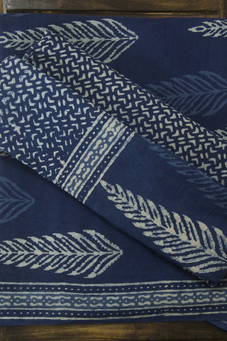 Big Leaf Dabu Block Printed Full Suit