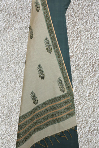Natural Dyed Handwoven Top with Chanderi Dupatta