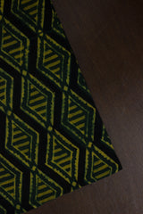 Shades of Green with Black Block Printed Ajrak fabric