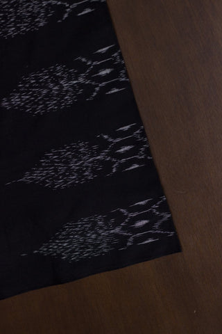 Intricate Patterns in Black - Handwoven Ikat Fabric