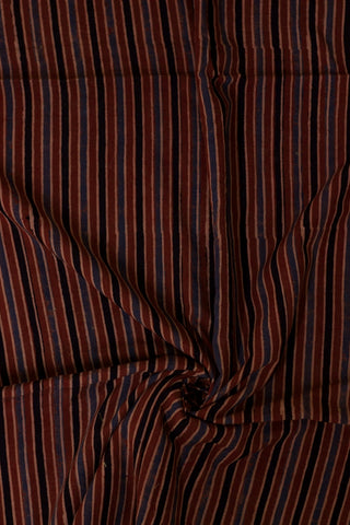 Maroon with Black Lines Block Printed Ajrak fabric