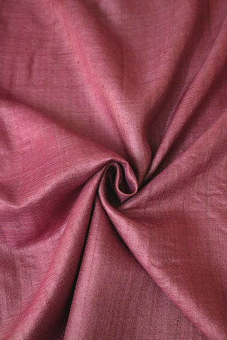 Lotus Pink Desi Tussar Silk Plain Fabric