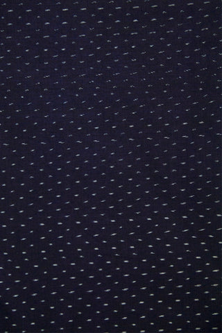 Navy Blue Ikat Cotton Fabric