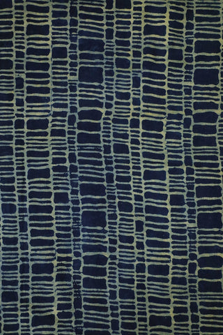 Indigo with Off White Ajrak Cotton Fabric