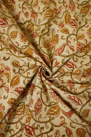 Floral Printed Kalamkari Cotton Fabric
