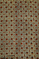 Maroon with Black and Beige Ajrak Cotton Fabric