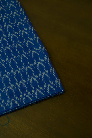 Blue Ikat Cotton Mercerized Fabric