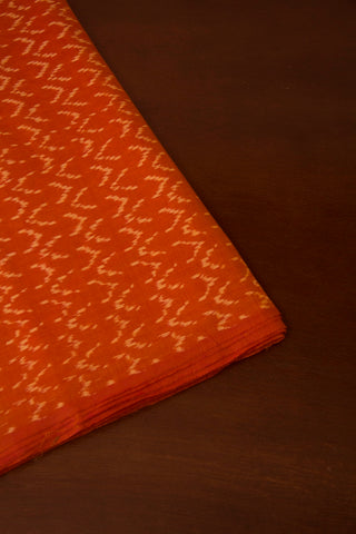 Brown Ikat Cotton Mercerized Fabric