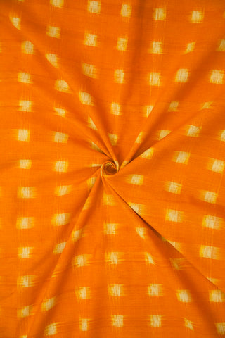 Mango Yellow Double Ikat Cotton Fabric