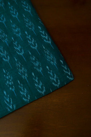 Ramar Blue Leaf Mercerized Cotton Ikat Fabric
