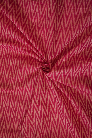 Purplish Pink Zig Zag Ikat Mercerized Cotton Fabric