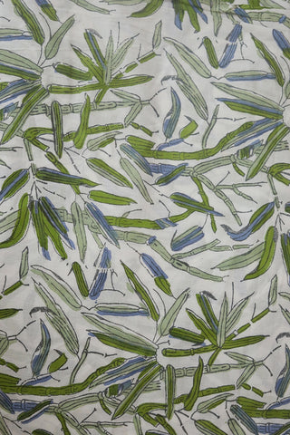 Leaves in wild - Sanganeri Cotton Fabric