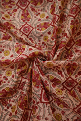 Pinkish Peach Chanderi Silk Cotton Fabric