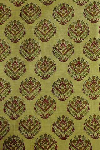 Sanganeri Print Chanderi Silk Cotton Fabric-0.7 m