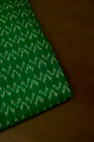 Green Ikat Mercerized Cotton Fabric