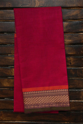 Dark Pink Kanchi Cotton Saree