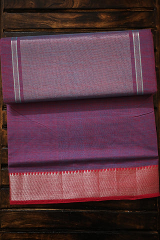Double Shade Purple with Pink Handwoven Mangalagiri Cotton Saree
